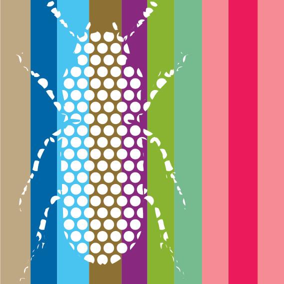 Beetle (White Dots on Stripes)