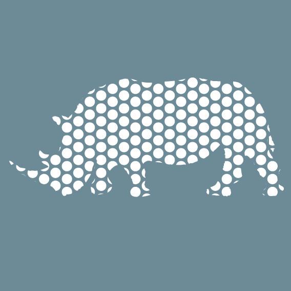 Rhino (White Dots on Grey)