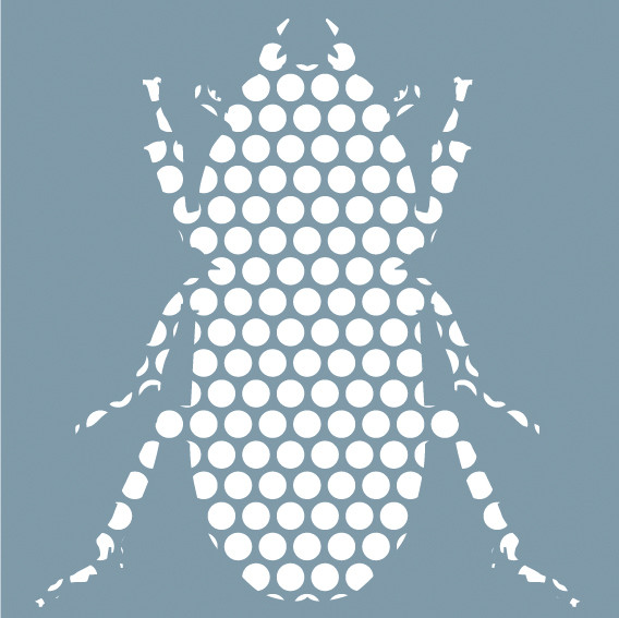 Beetle (White Dots on Grey)
