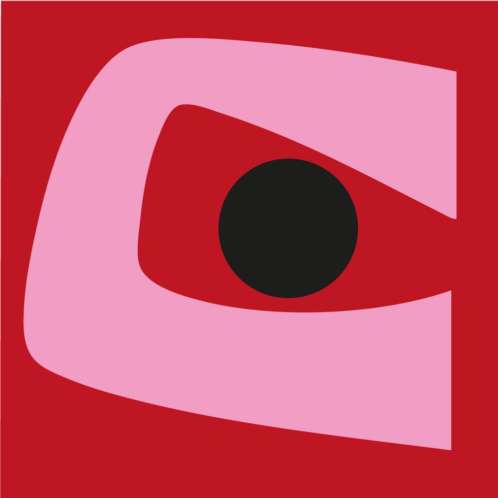 The All Seeing Eye (Pink on Red)