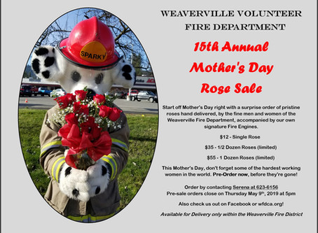 15th Annual Mother's Day Rose Sale