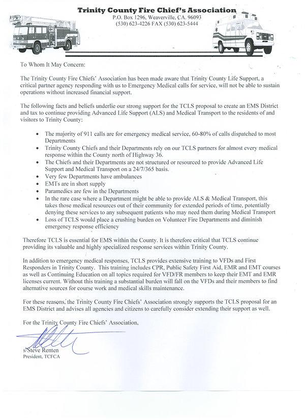 April 2019 Support Letter TCLS EMS Dist