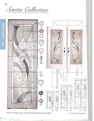 Santia Door Glass