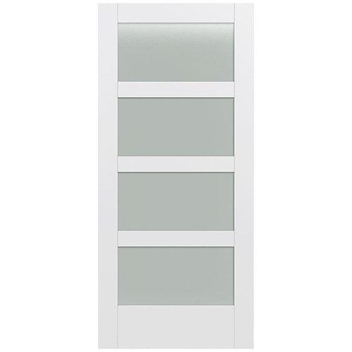 4 Light Flush Fiberglass Door