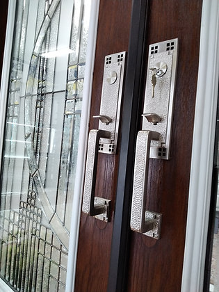 Double Fiberglass Woodgrain Door Package