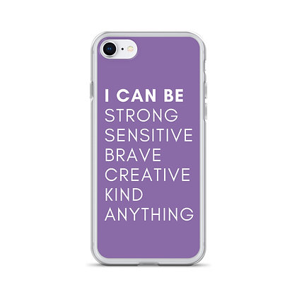 I Can Be Anything Affirmation Purple iPhone Case