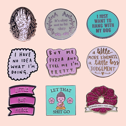 Positive Quotes Pins and Badges