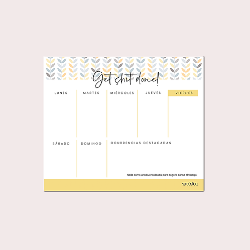 Planner Get Shit Done!