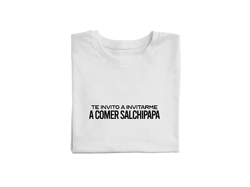 Polo Te invito a invitarme a comer salchipapa