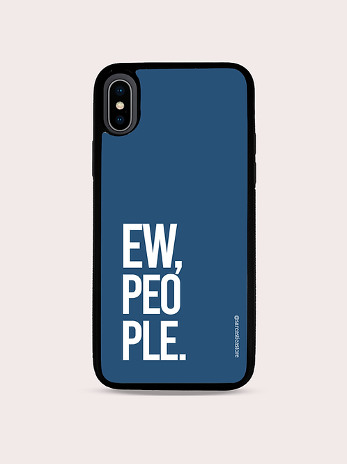 """Case """"Ew, People"""" - Azul Cobalto"""