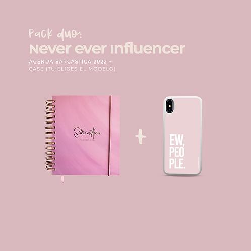 Pack Never Ever Influencer (Dúo Agenda + Case)