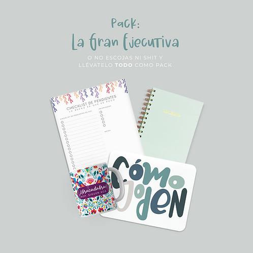 La Gran Ejecutiva: Libreta + Planner +  Mousepad + Taza