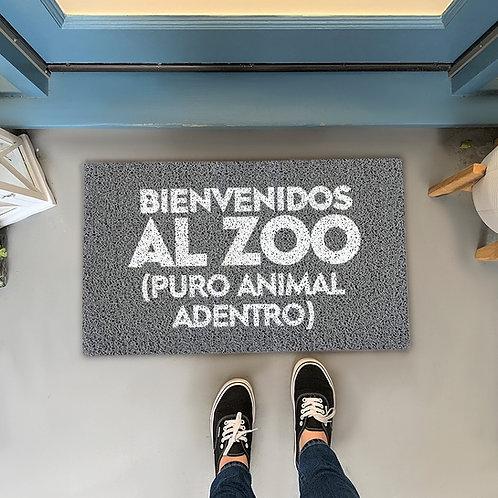 Felpudo Bienvenidos al Zoo