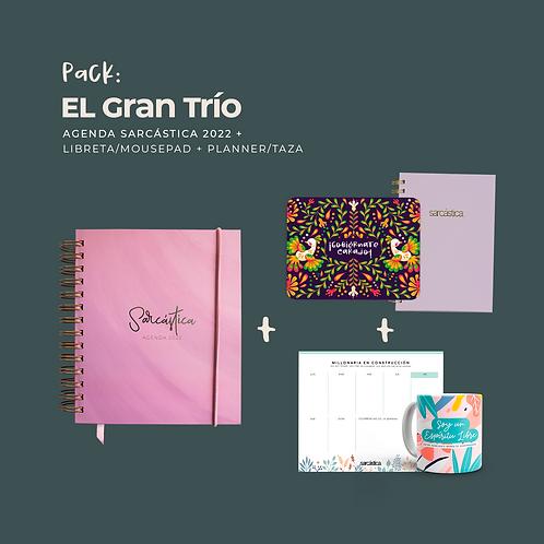 Pack El Gran Trío (Trío Agenda + Libreta/Mousepad + Planner/Taza11oz.)