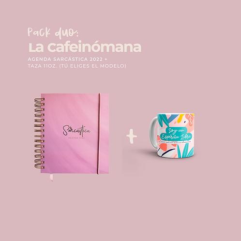 Pack La Cafeinómana (Dúo Agenda + Taza 11oz.)