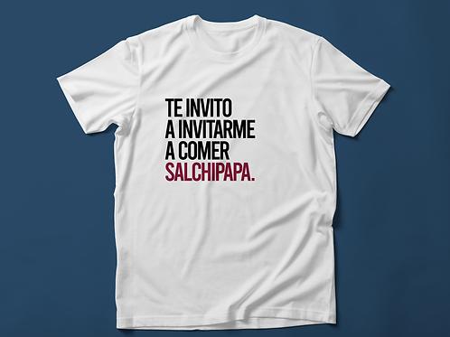 Polo Hombre Te invito a invitarme a comer salchipapa