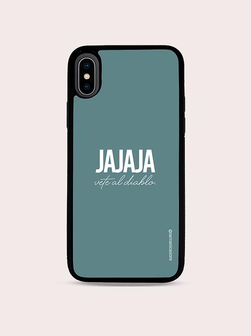 """Case """"Jajaja. Vete al diablo."""" - Verde Opaco"""