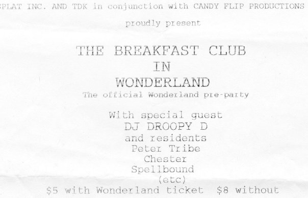 The Breakfast Club in Wonderland