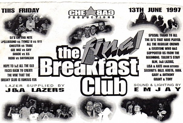 The Breakfast Club 13 June 1997