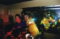Suae & Weaver at Breakfast club reunion 2002