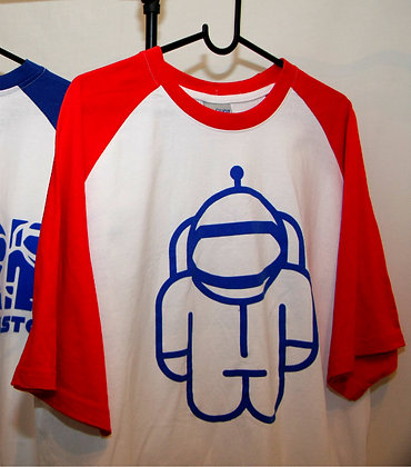 T-Shirt White w/ Red sleeves
