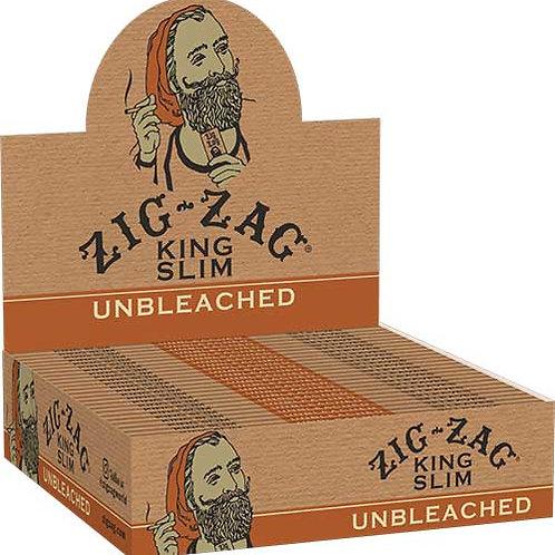ZIG ZAG - PAPEL UNBLEACHED (VIRGEN) KING SLIM