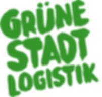 Grüne-Stadt-Logistik-schrift-block-gru