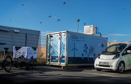 Solargekühlter Container