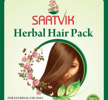 """SAATVIK Herbal Hair Pack"" (100% natural)"