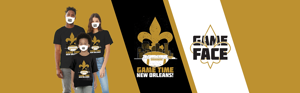 Black and Gold Collection for New Orleans football team gear