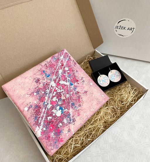 Gift box: Obraz + náušnice