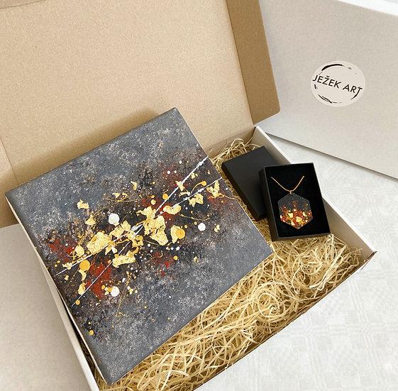 Gift box: Obraz + náhrdelník