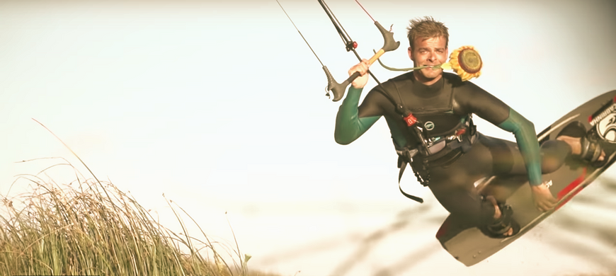 To learn about kitesurfing