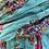 Thumbnail: Écharpe fleurie turquoise