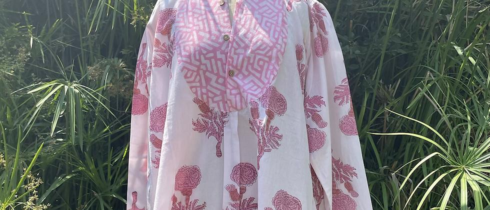 Tunique rose pivoine