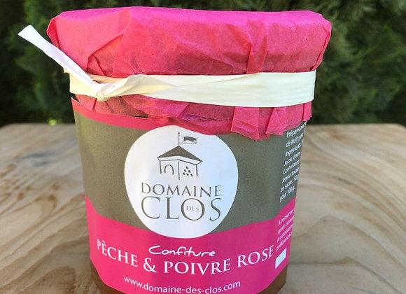 Confitures Maison Pêche Poivre Rose