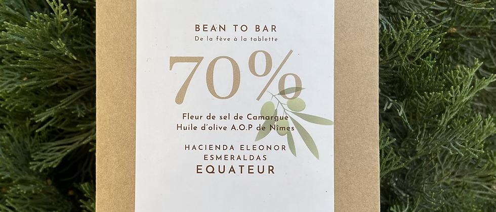 Chocolat à l'huile d'olive AOP de Nîmes et Fleur de sel de Camargue