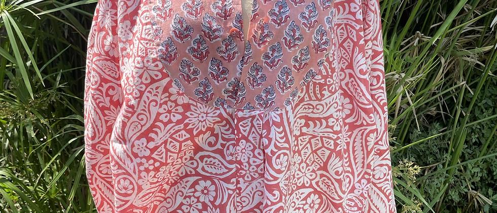 Tunique roses anciennes