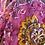 Thumbnail: Écharpe fleurie rose fushia