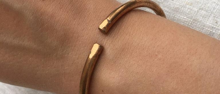 Bracelet Jonc en cuivre grand modèle