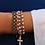 Thumbnail: Bracelet en corde et perle de laiton