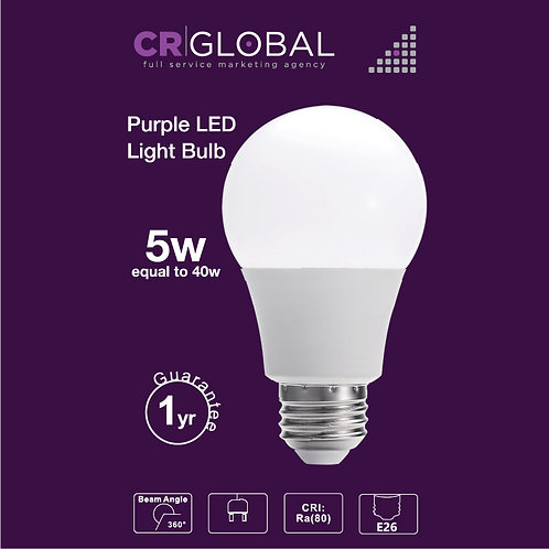 Purple LED Light Bulb