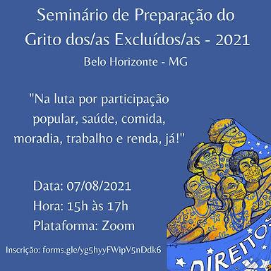 BH promove seminário no Dia D do Grito