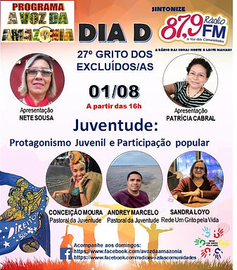 Dia D do Grito de Manaus debate o tema juventude
