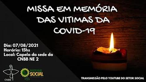 CNBB NE2 celebra missa em memória de vítimas da Covid 19