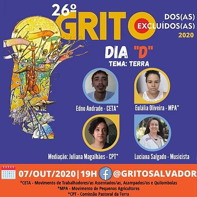 Salvador faz live no Dia D do Grito