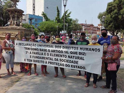 Manaus/AM: Manifestantes protocolam carta em defesa da saúde