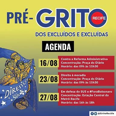 Recife promove pré-Grito em três etapas