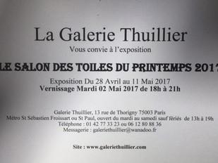 Galerie Thuillier du 28 avril au 11mai.