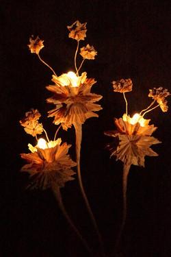 Lampe fleurs astrales